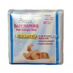 PUREEN Baby Napkin Checked - 10pcs