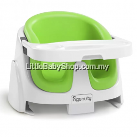 Bright Starts Ingenuity Baby Base 2 in 1 Booster Seat -(Lime )