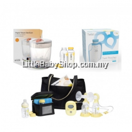 Medela Freestyle Breastpump Package with Digital Steam Sterilizer
