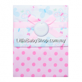 Autumnz - Flannel Receiving Blanket 2 Pcs *Butterfly Dots*