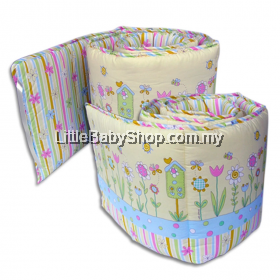 Bumble Bee Cot Bumper 2pcs (Lovely Garden)