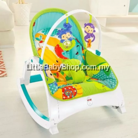 Fisher Price Rainforest Friends Newborn-to-Toddler Portable Rocker Bouncer