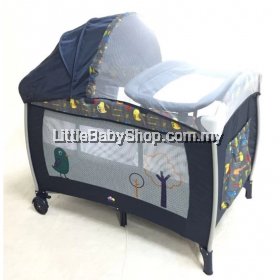Bubbles  Chirpy Bird Playpen with Mosquito Net
