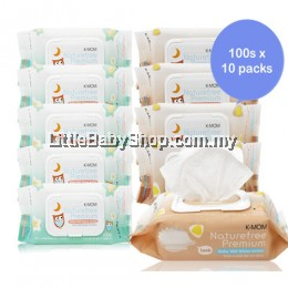 K-MOM USDA Organic Premium Baby Wet Wipes 100pcs X10 Packs