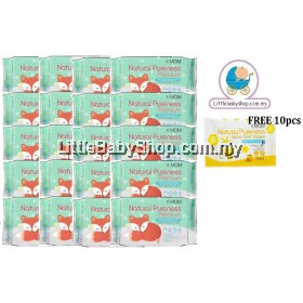 K-Mom: Natural Pureness Premium Baby Wet Wipes Embo 20pcs x 20 Packs (Free 10pcs)
