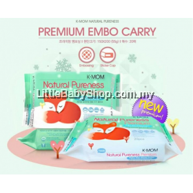 K-Mom: Natural Pureness Premium Baby Wet Wipes Embo - 20pcs x 3 Packs