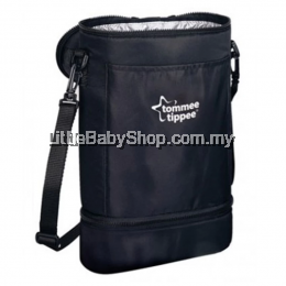 Tommee Tippee Twin Bottle Insulated Carrier-Black