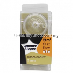 Tommee Tippee Closer to Nature Teat - Fast Flow-2Pcs