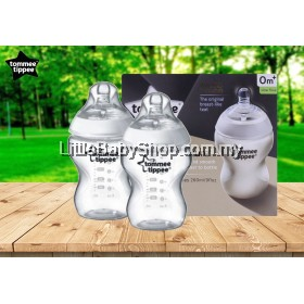 TOMMEE TIPPEE Closer To Nature 2x Feeding Bottles 260ml (0M+)