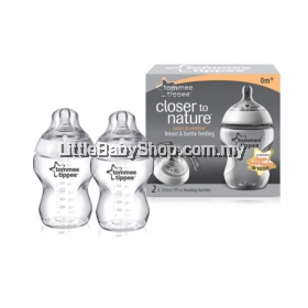 Tommee Tippee Closer to Nature PP Bottle 260ml (9oz) Twin Pack