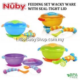 NUBY Feeding Set Wacky Ware (Blue/Green/Yellow)