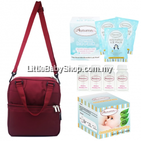Autumnz Posh Cooler Bag Package (Burgundy) VALUE PACKAGE SET