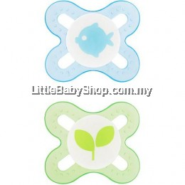 MAM Pacifier Start Extra Tiny Size Silicone Teat Pacifier 0-2m - 2pcs