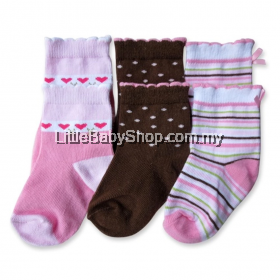 Bumble Bee 3 Pairs Pack Simple Love Socks