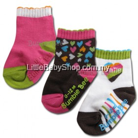 Bumble Bee 3 Pair Pack Smile Socks