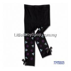 Bumble Bee Glittering Fun & Bows Black Pants Tights (S/M/L/XL)