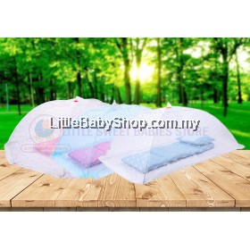 BABYLOVE Foldable Mosquito Net / Tent with Safety Pin 0m+ (4 Ribs / 6 Ribs)
