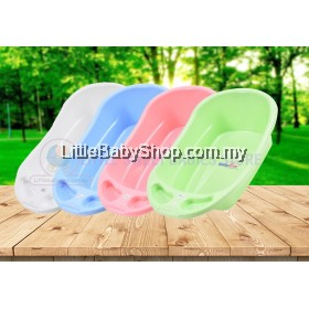 BABYLOVE Bath Tub with Stopper XL (BL0162) - Blue/Green/Pink