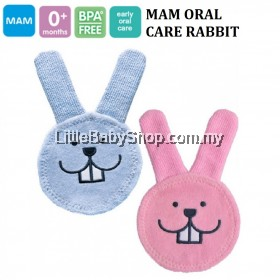 MAM Oral Care Rabbit (0m+) - Blue/Pink