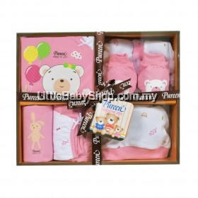 Pureen Pride N Joy Babywear Gift Set Girl Pink
