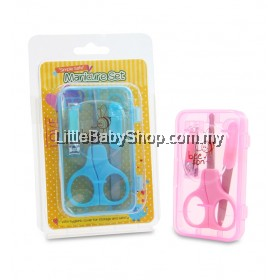 Bee Son Baby Manicure Set - Blue and Pink
