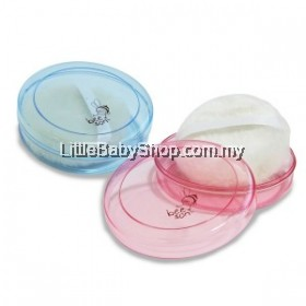 Bee son baby powder puff & container