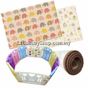 Coby Fence (8+2) 3RB & PE Design Mat (Both Sided) - Elephant And Owl