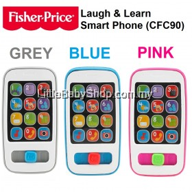 Fisher Price Laugh & Learn Smart Phone - Grey/Pink/Blue