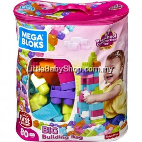 Fisher Price Mega Bloks® 80-Piece Big Building Bag Classic
