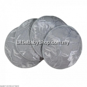 Lunavie Antibacterial Washable Bra Pads (4pcs) - Grey