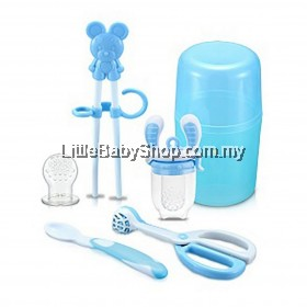 KIDSME Baby Feeding Set (Blue/Pink/Yellow)