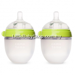 Comotomo Natural Feel Baby Bottle 2x150ml Green
