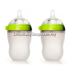 Comotomo Natural Feel Baby Bottle 2x250ML green