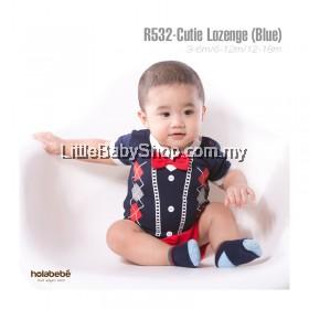 Holabebe: R532-Cutie Lozenge (Blue) Romper