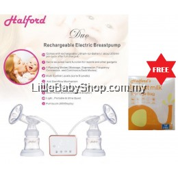 HALFORD Duo Rechargeable Electric Breast Pump (with free gift)