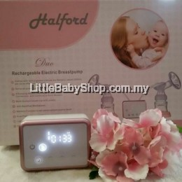 HALFORD DUO RECHARGEABLE ELECTRIC BREAST PUMP