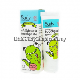 Buds Children's Toothpaste with Xylitol 50ml (1-3 Years Old) - Green Apple