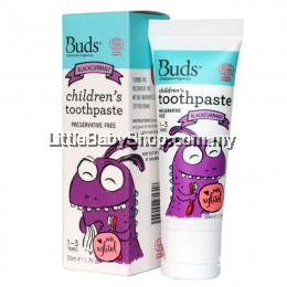 Buds Children´s Toothpaste with Xylitol 50ml  Blackcurrent (1-3 Years Old)