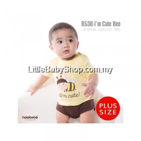 Holabebe: R536-I'm Cute Bee (Plus Size) Holabebe Romper