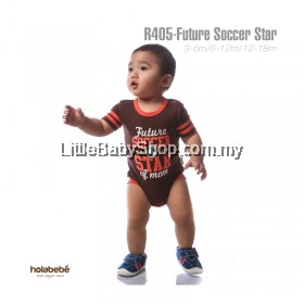 Holabebe: R405-Future Soccer Star Of Mom Holabebe Romper