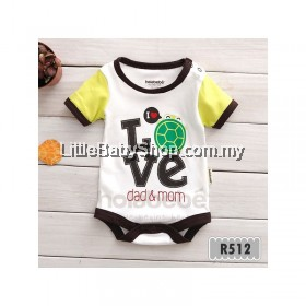 Holabebe: R512-Love Dad & Mom Holabebe Romper