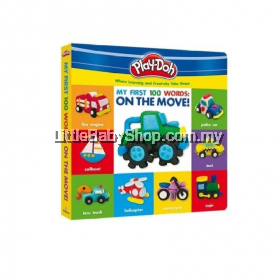 Play-Doh Deluxe Board Book  My First 100 Word On The Move!