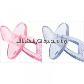 US Baby Sili Smart Thumb Shape Silicone Pacifier (S Size) with Case Pink