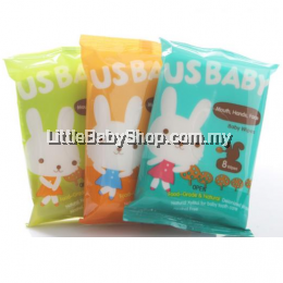 Us Baby Wipes,mouth Hand Face Mini 8' 3Packs