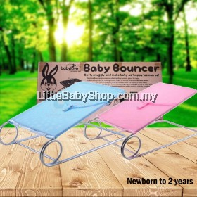 BABYLOVE Baby Bouncer XL (0109) - Blue/Pink