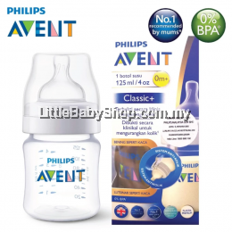 Philips Avent PA Classic+ Feeding Bottle 4Oz/125Ml