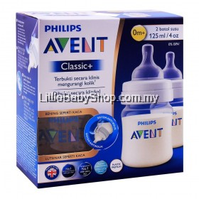 PHILIPS AVENT Classic+ PA Bottle 125ml/4oz - Twin Pack