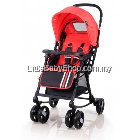 My Dear Domani Baby Stroller with Rocking 18034 Red (Newborn - 15kg)