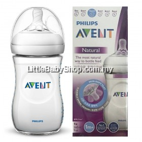 PHILIPS AVENT Natural Bottle 260ml/9oz (1m+) - Single Pack
