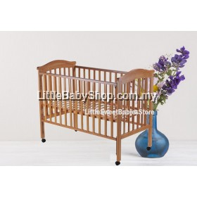 "BABYLOVE Baby Cot Solid Wood (BL840) Natural 24"" x 48"""